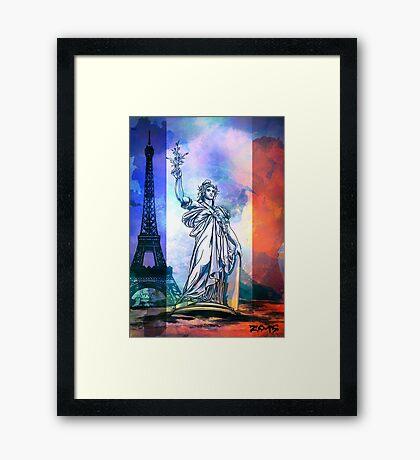 Paris,Statue Marianne. Framed Print