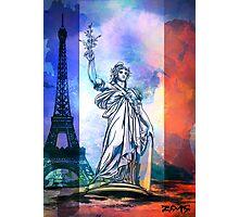 Paris,Statue Marianne. Photographic Print
