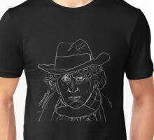 Tom Baker - 4th Doctor (white) Unisex T-Shirt