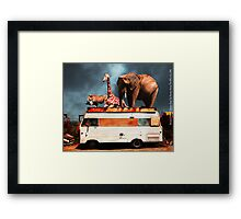 Barnum and Baileys Fabulous Road Trip Vacation Across The USA Circa 2013 5D22705 with text Framed Print