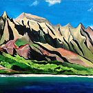 "110. ""Napali Coast, Kauai."" by amyglasscockart"