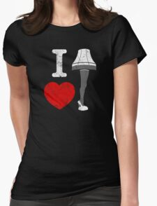 I Love Lamp Womens Fitted T-Shirt