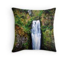Oregon Waterfalls (Color) Throw Pillow