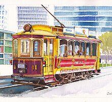 Christchurch Number 11 Tram by Dai Wynn