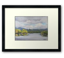 Original Plein Air Landscape Painting - Summer Sky Framed Print