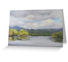 Original Plein Air Landscape Painting - Summer Sky Greeting Card