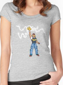 Poké-MAN: I HAVE THE PIKAAAAAAAA! Women's Fitted Scoop T-Shirt