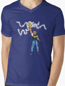 Poké-MAN: I HAVE THE PIKAAAAAAAA! Mens V-Neck T-Shirt