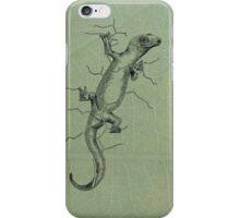 NZ Green Gecko  iPhone Case/Skin