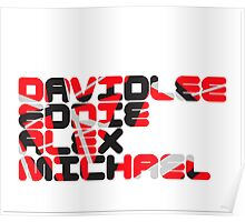 David Lee Eddie Alex Michael Poster