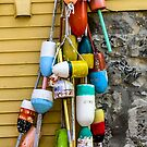 BUOYS in MARBLEHEAD by Rebecca Dru