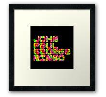 John Paul George Ringo Framed Print