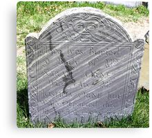 Gravestone on Old Burial Hill Canvas Print