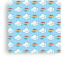 Rainbow Dash Clouds Canvas Print