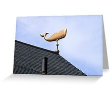 Whale Weathervane Greeting Card