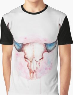 cow skull with horns Graphic T-Shirt