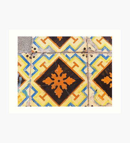 Portugal Tile Number Ten Art Print