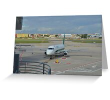 Modern Airliner Greeting Card