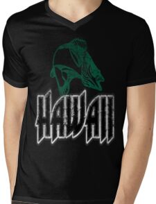 FISH HAWAII VINTAGE LOGO Mens V-Neck T-Shirt