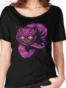 Grinning like a Cheshire Cat (purple version) Women's Relaxed Fit T-Shirt
