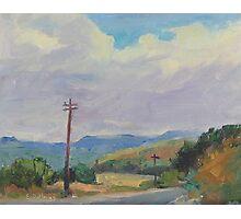 Chiquito Canyon Roadway Photographic Print