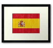 Spain flag Framed Print