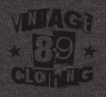 vintage89 logo tee black by Vintage89