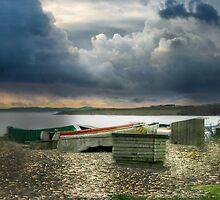 Budleigh Salterton Devon by Irene  Burdell