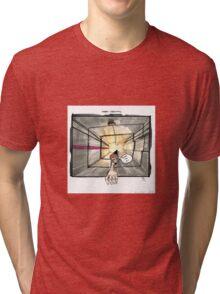 Nakatomi Lift Shaft Christmas Card Tri-blend T-Shirt