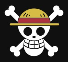 Luffy - OP Pirate Flags - Colored One Piece - Short Sleeve