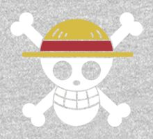 Luffy - OP Pirate Flags - Colored Kids Tee