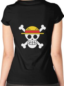 Luffy - OP Pirate Flags - Colored Women's Fitted Scoop T-Shirt