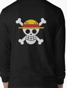 Luffy - OP Pirate Flags - Colored Long Sleeve T-Shirt