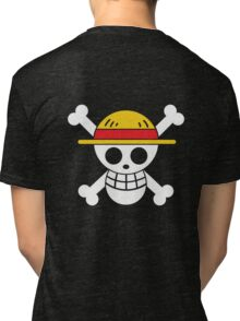 Luffy - OP Pirate Flags - Colored Tri-blend T-Shirt