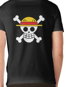 Luffy - OP Pirate Flags - Colored Mens V-Neck T-Shirt