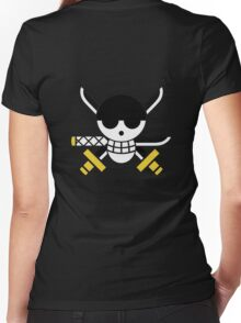 Zoro - OP Pirate Flags - Colored Women's Fitted V-Neck T-Shirt