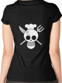 Sanji - OP Pirate Flags - Colored Women's Fitted Scoop T-Shirt