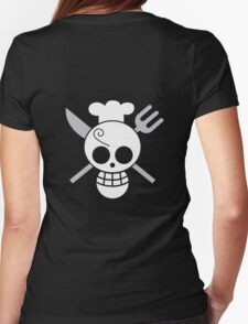 Sanji - OP Pirate Flags - Colored Womens Fitted T-Shirt