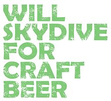will skydive for craft beer by trendz