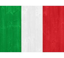 Italy flag Photographic Print