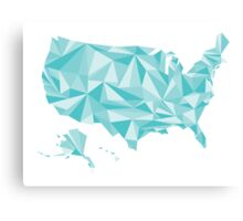 Abstract America Winter Crystal Canvas Print