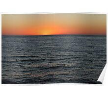 Glowing Ocean Sunset  Poster