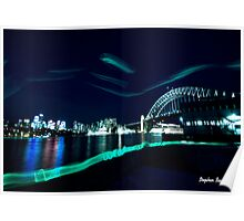 Sydney Harbour Bridge from Walsh Bay Poster