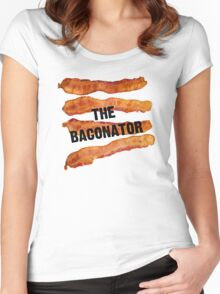The Baconator - The Ultimate Bacon Lover Women's Fitted Scoop T-Shirt
