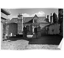 Montsalvat in black and white Poster