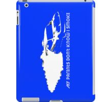 iPad Case - My Parents Don't Know I Smoke - Blue iPad Case/Skin