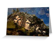 Reflection of Sawn Rocks Greeting Card