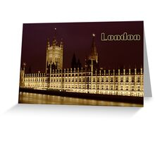 Parlament night lights Greeting Card