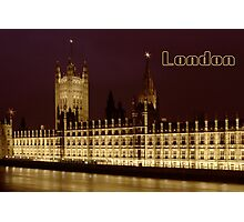 Parlament night lights Photographic Print