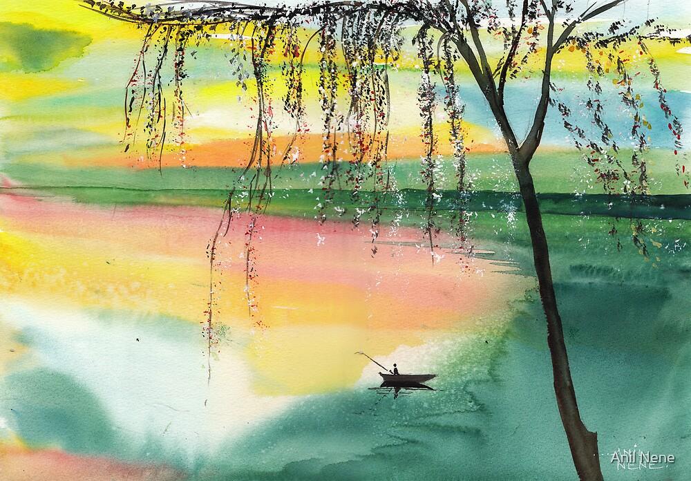 Fishing 1 by Anil Nene